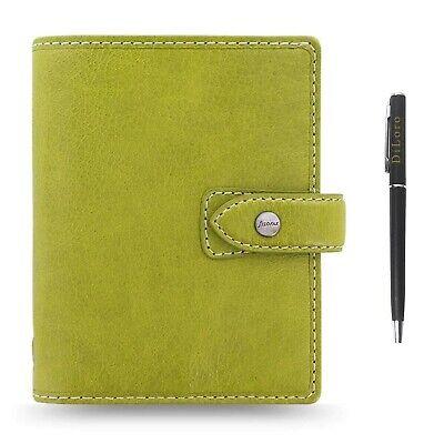 Filofax Malden Leather Organizer Pocket 2020 Calendar Notebook With Diloro Pen