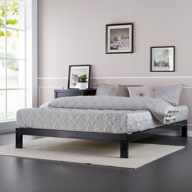 king size platform bed frame platform bed frame king size boxspring mattress support modern bedroom furniture