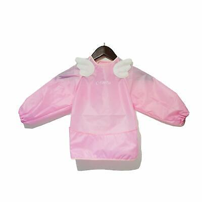 Pink Angel Wings Fashionable Sleeved Bib, for 6 Months Toddler to 3 Years Old Ki](Angel Wings For Toddler)