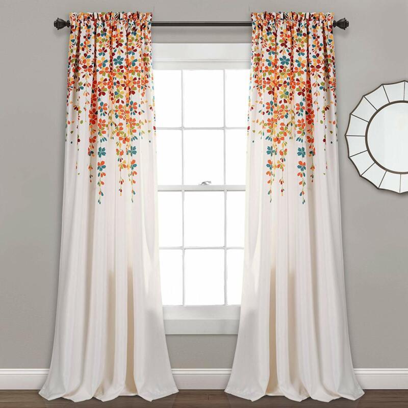 Lush Decor Weeping Flowers Room Darkening Window Panel Curta