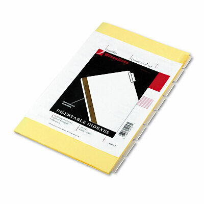 Wilson Jones Single-sided Reinforced Insertable Index Clear 8-tab 8 12 X 14