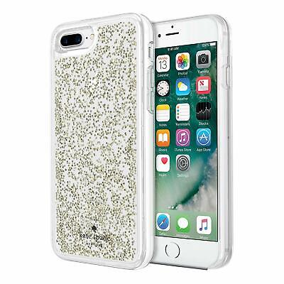 Kate Spade Clear iPhone 7 Plus iPhone 8 Plus Hard Shell Case Cover Gold Glitter