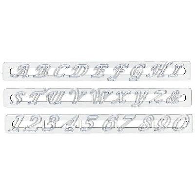 FMM Cutter Alphabet & Numbers Set Script Upper Case Cake Fondant Cutting Tool