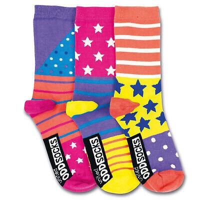 reifen in 30,5-38,5 Strümpfe verrückte Socken im 3er Set (Sterne Und Streifen)