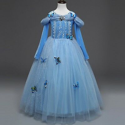 Kid Cinderella Dress Sequined Princess Fancy Clothes Costume For Cosplay - Cinderella Costume For Teens