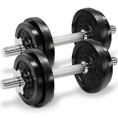 Yes4All Adjustable Dumbbells Set Gym Cap Plate Weight Fitness 40 lbs - ²D2CLF