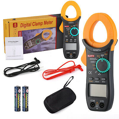 Digital Clamp Meter Tester 600 Ac Dc Volt Amp Multimeter Auto Ranging Current