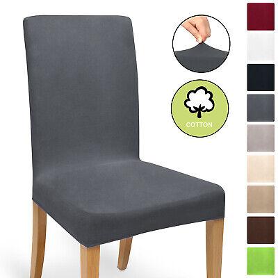 Universal Stuhlhussen Stretch Baumwolle Stuhlbezug Stuhlhusse Stuhlüberzug Husse - Baumwolle Stoff Stuhl