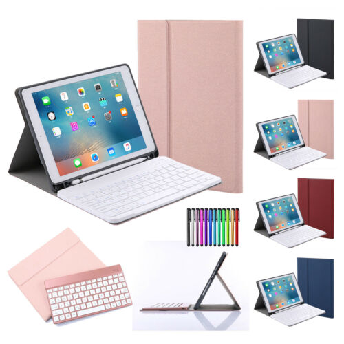 For Apple iPad Smart PU Leather Case Cover with Pencil Holde