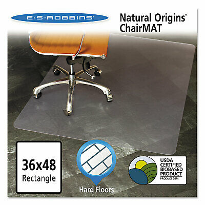 Es Robbins Natural Origins Chair Mat For Hard Floors 36 X 48 Clear 143007