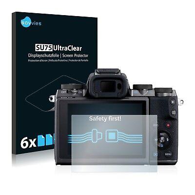 6x Displayschutzfolie für Canon EOS M5 Schutzfolie Klar Folie Displayfolie