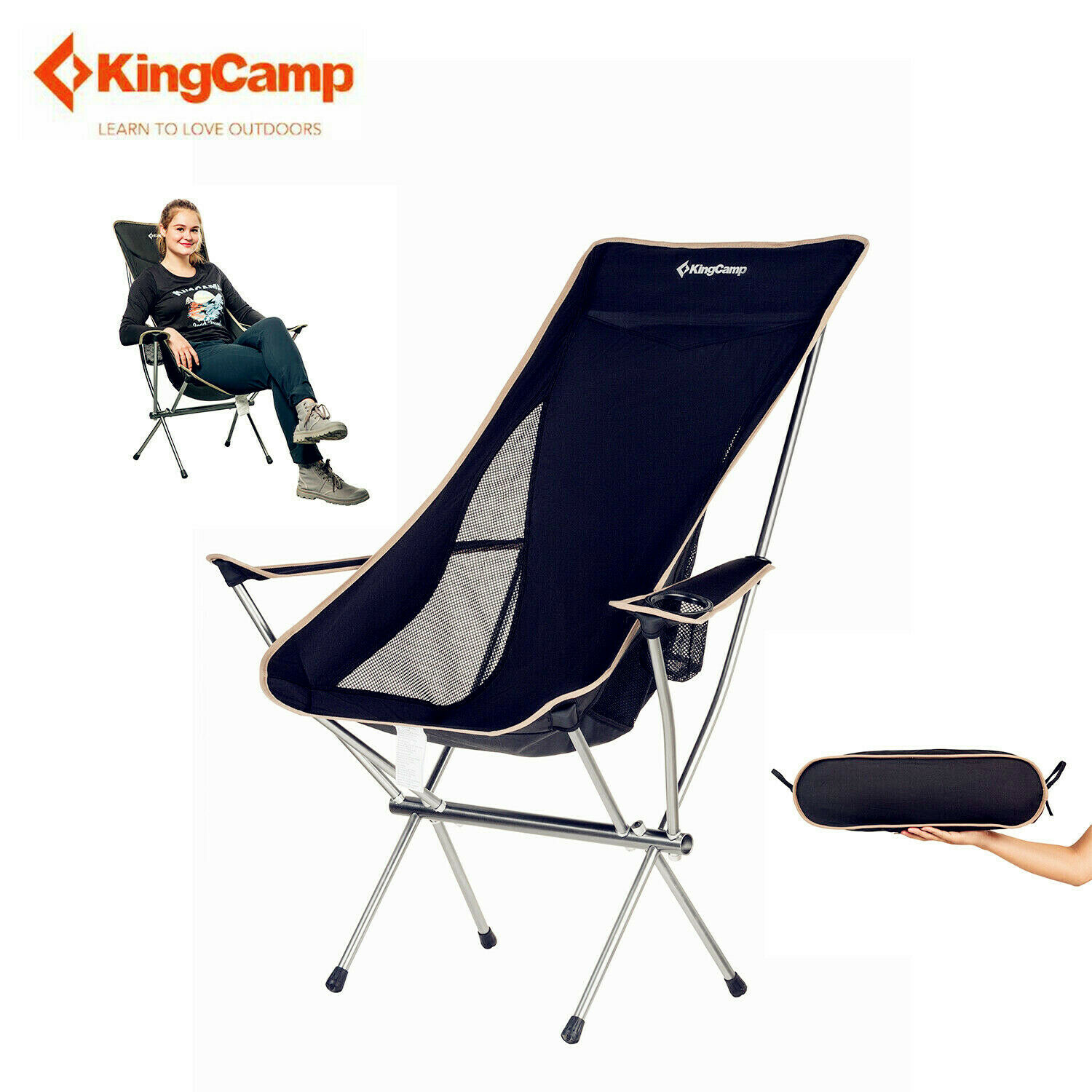 Details About Kingcamp Foldable Chair Camping Seat Portable Lightweight Beach Fishing Chair
