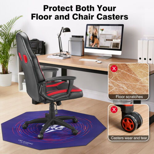 "47"" x 47"" Gaming Chair Mat Office Computer Desk Floor Carpet"