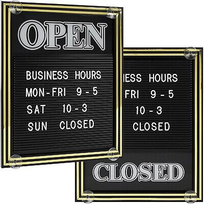 Open And Closed Sign With Letter Board Includes 447 Characters 15.25 X 12.5 In
