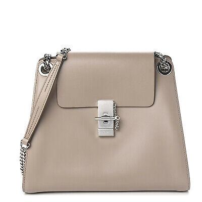 Chloe Annie Medium Leather Shoulder Bag Women's Motty Grey Authentic
