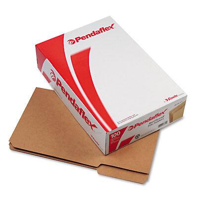 Pendaflex Two-Ply Dark Kraft File Folders 1/3 Cut Top Tab Legal Brown 100/Box