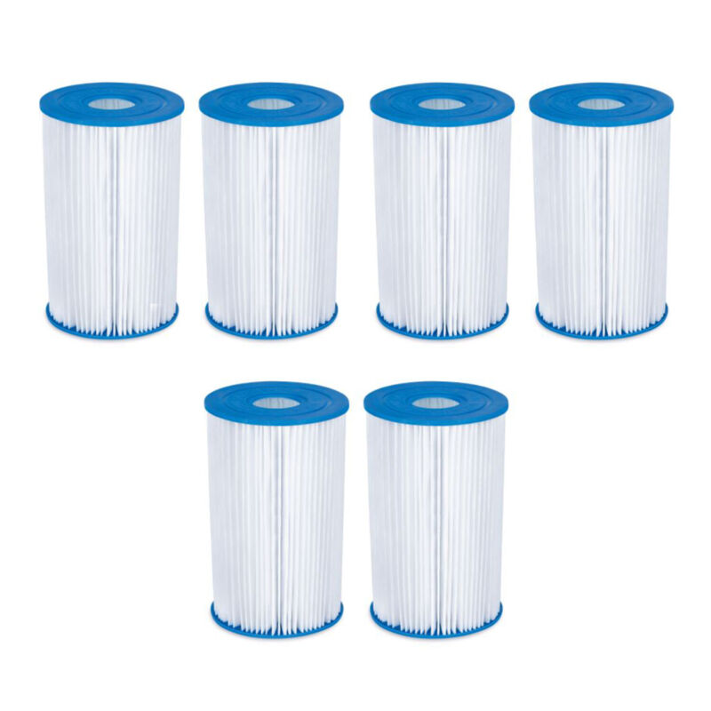 Summer Waves P57000302 Replacement Type B Pool and Spa Filter Cartridge (6 Pack)