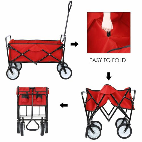 Collapsible Utility Wagon Beach Camping Garden Folding Troll
