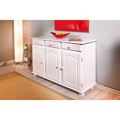 Commode bahut buffet console meuble de rangement cuisine salle à manger BLANC