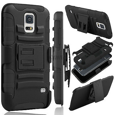 Rubberized Holster Clip (Hybrid Rubberized Hard Phone Case Belt Clip Holster Stand For Samsung Galaxy)