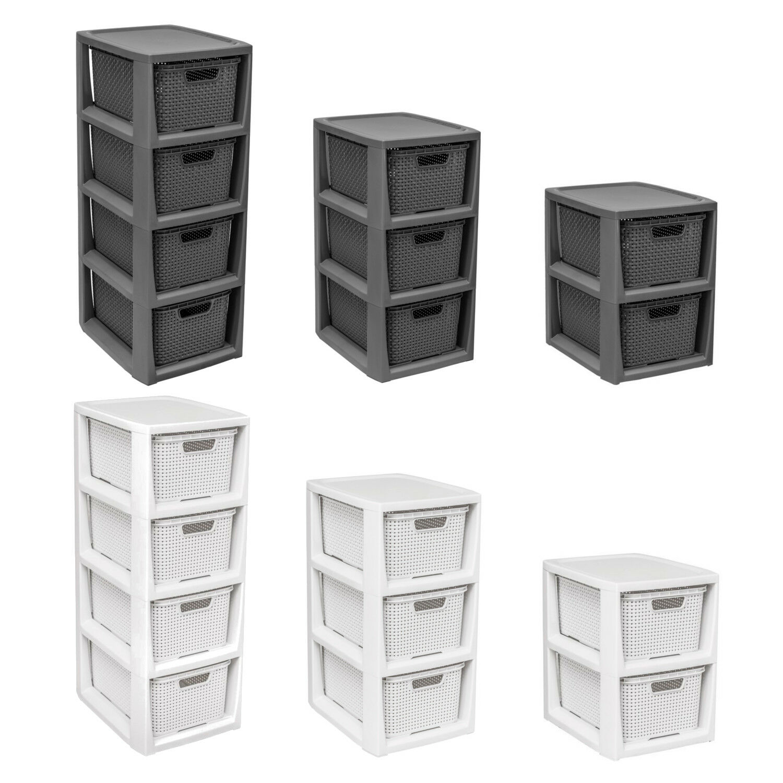 Boxenturm Behälter Aufbewahrungsbox Kisten Körbe Korbregal Boxenregal Rattan Box