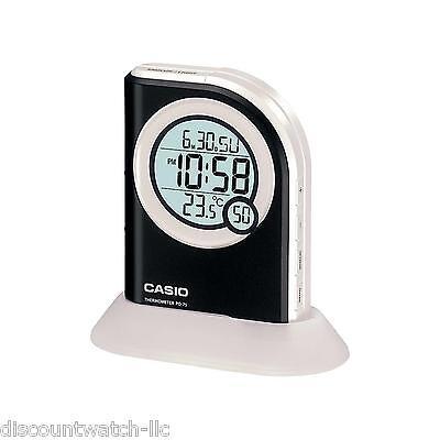 Casio PQ75-1 Multi-Function Digital Thermometer Table Top Alarm Clock LED Light