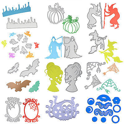 Halloween Metal Cutting Dies Stencils Scrapbooking Embossing DIY Paper Craft Hot (Halloween Papercraft)