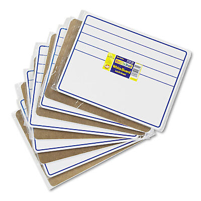 Student Dry Erase Boards - Chenille Kraft Student Dry-Erase Boards 12 x 9 Blue/White 10/Set 988210