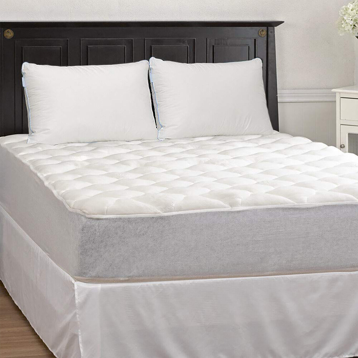 Thick Bamboo Mattress Topper Cooling Matress Pad Extra Plush