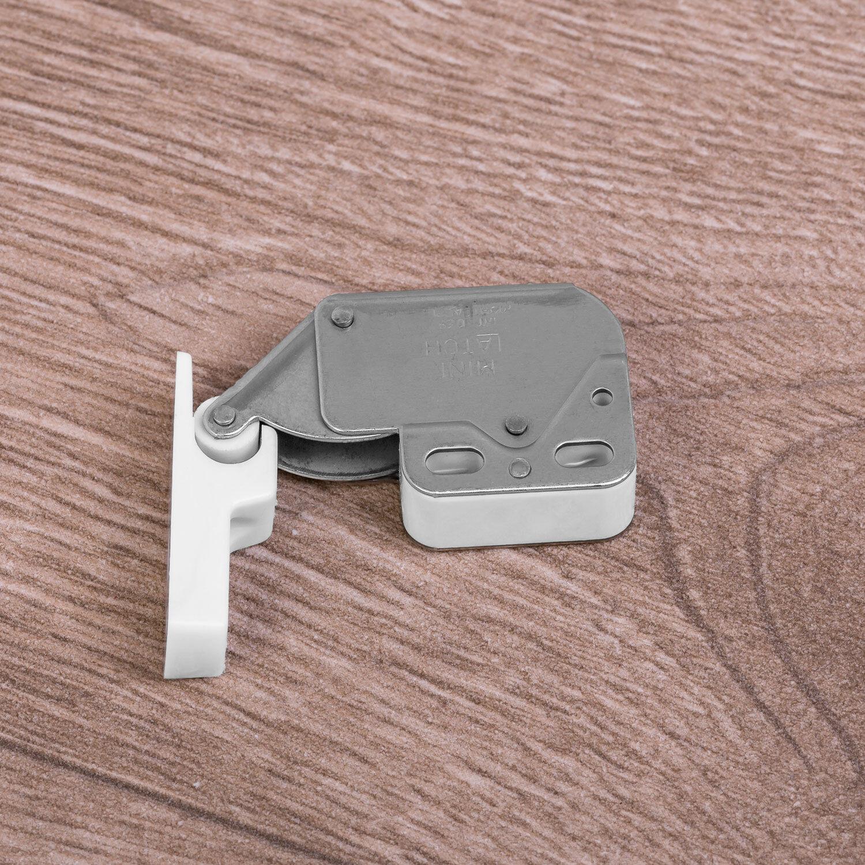 2 piezas de cierre de cerrojo de resorte doble pestillo hebillas de sujeci/ón de caja de herramientas para alternar sujetador Stainless Steel 201