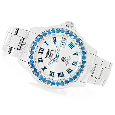 Invicta 47mm Grand Diver Automatic Neon Apatite Stainless Steel Bracelet Watch