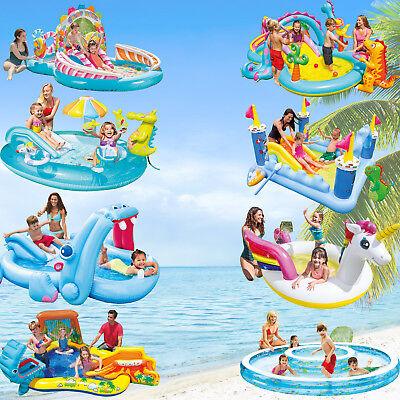 Intex Badeinsel Planschbecken Kinder Pool Spielcenter Wasserrutsche