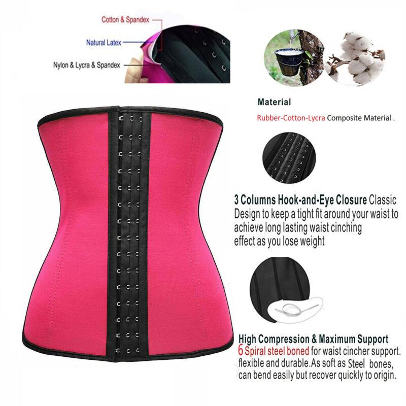 Latex Waist Trainer Cincher Tummy Firm Control Body Shaper Vintage Plus Size