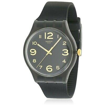 Swatch Men's Magies D'Hiver SUOB138 Black Silicone Swiss Quartz Watch