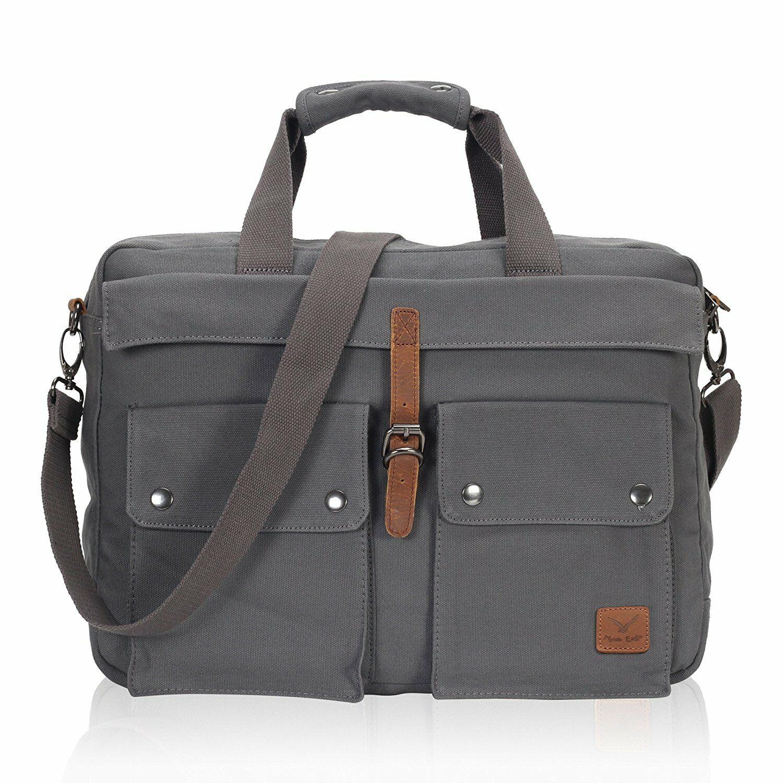 Men/'s Multi Purpose Shoulder Bag Messenger Travel School Briefcase Laptop Bag