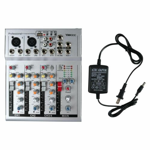 4 Channel Live Studio Audio Sound Compact Mixer Console with