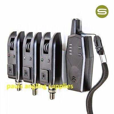Saber Z3 Wireless 3 Alarms + Receiver Fishing Bite Alarm Set Carp Tackle for pod