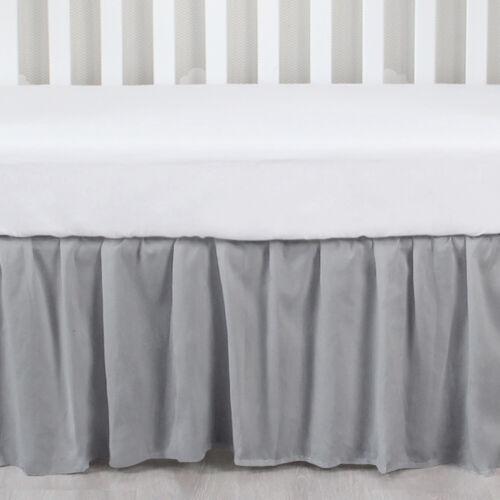 "Baby Standard Crib Skirt Four Fabric Sides Elastic Bedding Dust Ruffle 52""x28"""