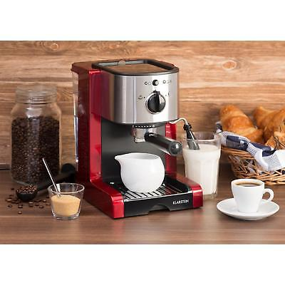 Espresso Coffee Machine Cappuccino Maker Electric filter 6 cup Frother Red 1470W