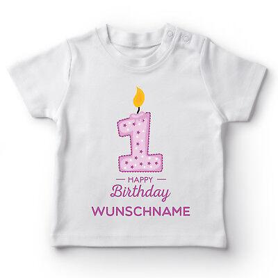 hname Geburtstag Mädchen Geschenk Kleinkind Baby T-Shirt  (Happy Birthday Kleines Mädchen)