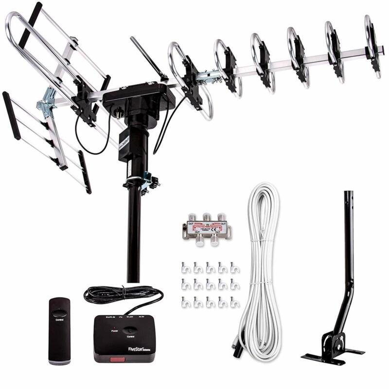 2020 Outdoor Digital Amplified HDTV Antenna Kit 200 Mile Ran