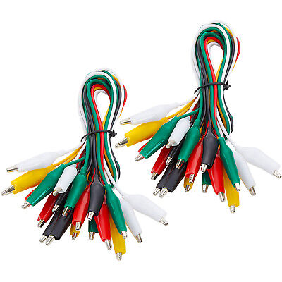 WGGE WG-026 20 Pieces and 5 Colors Test Lead Set & Alligator Clips,20.5 inches