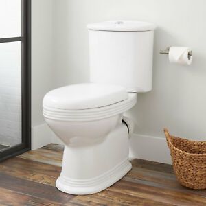 Ebler European Rear Outlet Elongated Two Piece Toilet ADA Compliant