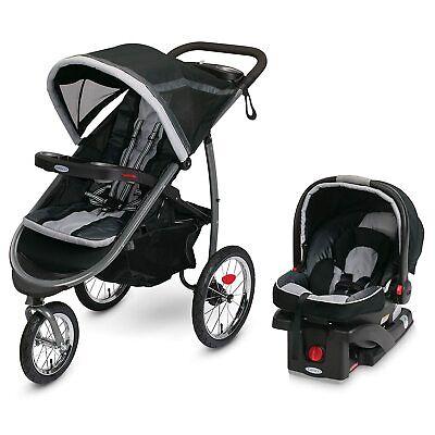 Graco FastAction Fold Jogger Travel System Infant Car Seat Stroller