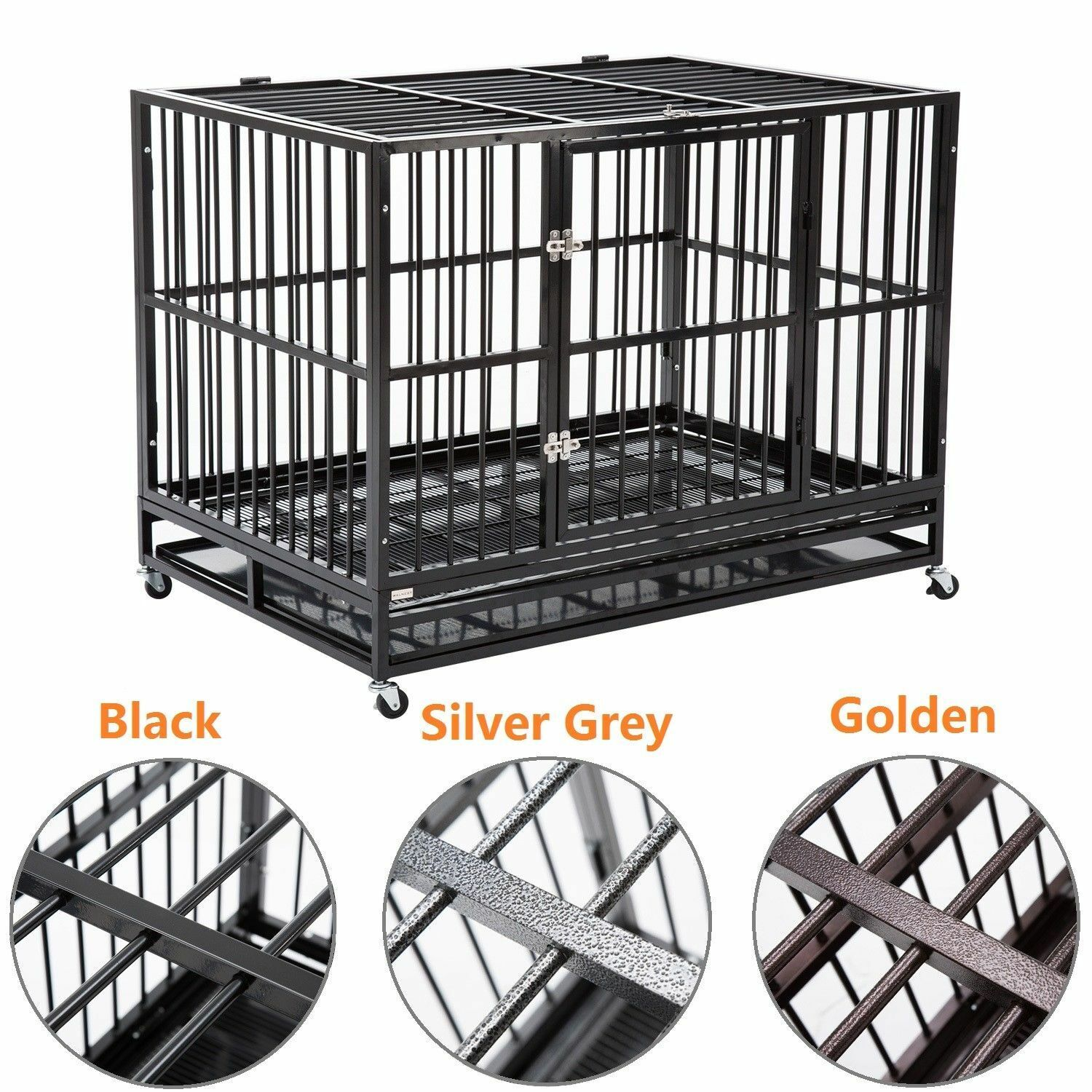 3 color large 37 dog cage crate