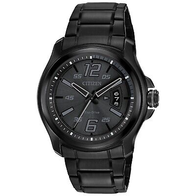 Citizen Eco-Drive Men's HTM Calendar Black Dial 43mm Watch AW1354-82E