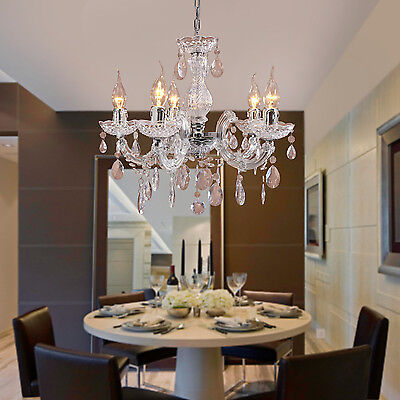 Classic Crystal Chandelier Pendant Lamp Ceiling Light ...