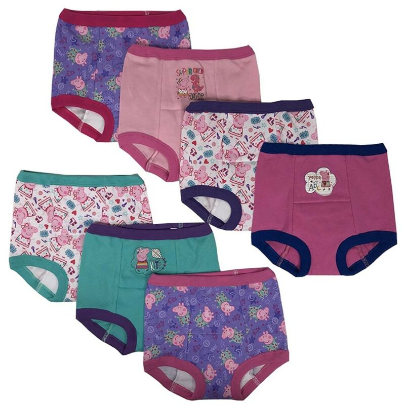 Peppa Pig Girls Potty Training Pants Panties 7-pack Underwear Toddler