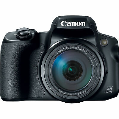 (NEW) Canon PowerShot SX70 HS 20.3 MP - Black (U.S. Model, Warranty)