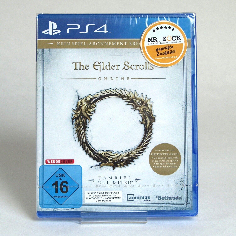 The Elder Scrolls Online: Tamriel Unlimited D1 + Entdeckerpaket - PS4 *nagelneu*